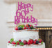 Happy 60th Birthday Cake Topper Glitter Card Hot Pink