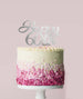 Happy 60th Cake Topper Mirror Card Silver