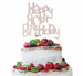 Happy 80th Birthday Cake Topper Glitter Card White