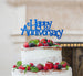 Happy Anniversary Cake Topper Glitter Card Dark Blue