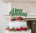 Happy Anniversary Cake Topper Glitter Card Green