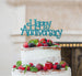 Happy Anniversary Cake Topper Glitter Card Light Blue