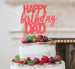 Happy Birthday Dad Cake Topper Glitter Card Light Pink