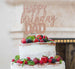 Happy Birthday Dad Cake Topper Glitter Card Rose Gold