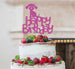 Happy Birthday Dog Cake Topper Glitter Card Hot Pink