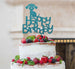 Happy Birthday Dog Cake Topper Glitter Card Light Blue