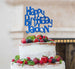 Bespoke Happy Birthday Name Fun Font Cake Topper Dark Blue