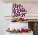 Bespoke Happy Birthday Name Fun Font Cake Topper Dark Purple