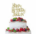 Bespoke Happy Birthday Name Fun Font Cake Topper Gold
