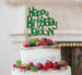 Bespoke Happy Birthday Name Fun Font Cake Topper Green