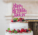 Bespoke Happy Birthday Name Fun Font Cake Topper Hot Pink