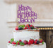Bespoke Happy Birthday Name Fun Font Cake Topper Light Purple