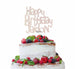 Bespoke Happy Birthday Name Fun Font Cake Topper White