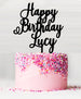 Happy Birthday Custom Acrylic Cake Topper Black