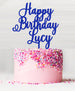 Happy Birthday Custom Acrylic Cake Topper Blue