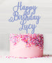 Happy Birthday Custom Acrylic Cake Topper Bubblegum Blue