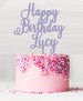 Happy Birthday Custom Acrylic Cake Topper Parma Violet