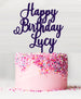 Happy Birthday Custom Acrylic Cake Topper Purple