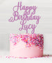 Happy Birthday Custom Acrylic Cake Topper Sour Grape