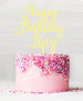 Happy Birthday Custom Acrylic Cake Topper Baby Yellow Lemon Sorbet