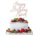 Happy Birthday Mum Cake Topper Glitter Card White