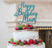 Happy Birthday Mum Cake Topper Glitter Card Light Blue