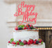 Happy Birthday Mum Cake Topper Glitter Card Light Pink
