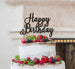 Happy Birthday Pretty Cake Topper Glitter Card Black