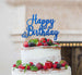 Happy Birthday Pretty Cake Topper Glitter Card Dark Blue