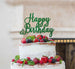 Happy Birthday Pretty  Cake Topper Glitter Card Green