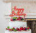 Happy Birthday Pretty Cake Topper Glitter Card Red