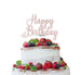 Happy Birthday Pretty Cake Topper Glitter Card White