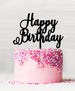 Happy Birthday Acrylic Cake Topper Black