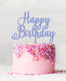 Happy Birthday Acrylic Cake Topper Bubblegum Blue