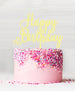 Happy Birthday Acrylic Cake Topper Lemon Sorbet