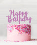 Happy Birthday Acrylic Cake Topper Sour Grape