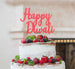 Happy Diwali Cake Topper Glitter Card Light Pink