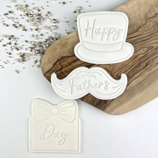 Happy Father's Day Set of 6 Cookie Cutters and Stamps