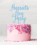 Custom Hen Party Cake Topper Candy Floss Blue