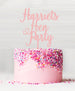 Custom Hen Party Acrylic Cake Topper Baby Pink