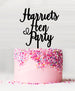 Custom Hen Party Acrylic Cake Topper Black