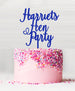 Custom Hen Party Acrylic Cake Topper Blue