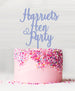 Custom Hen Party Acrylic Cake Topper Bubble Gum Blue