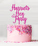 Custom Hen Party Acrylic Cake Topper Hot Pink