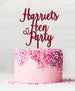 Custom Hen Party Acrylic Cake Topper Red