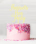Custom Hen Party Acrylic Cake Topper Yellow Lemon Sorbet