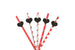 Heart Party Straws - Glittery Gold with Black Straws
