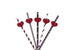 Heart Party Straws - Glittery Silver with Black Straws