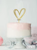 Multi Heart Wedding Valentine's Cake Topper Premium 3mm Acrylic Mirror Gold