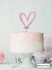 Multi Heart Wedding Valentine's Cake Topper Premium 3mm Acrylic Mirror Pink